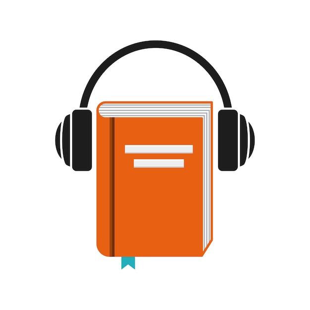 Premium Vector | Book and headphone icon. audiobooks design. vector graphic