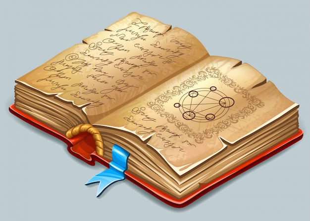 Book of magic spells and witchcraft. | Free Vector