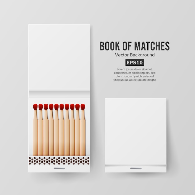 Book of matches Premium Vector
