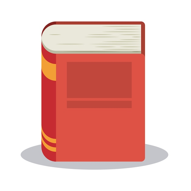Book read library literature learning knowledge icon Premium Vector
