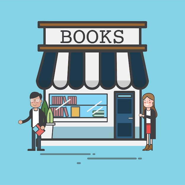 Book store Free Vector