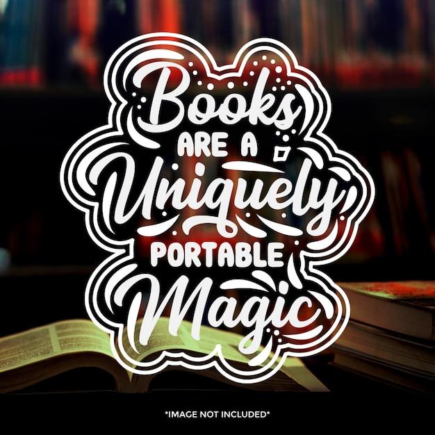 book typography quotes design premium vector