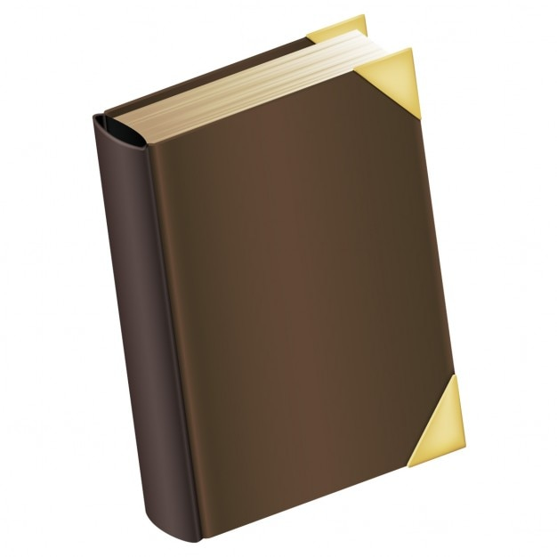 Book with brown cover Free Vector