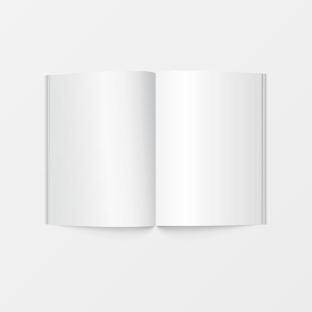 인쇄용 소책자 공백 흰색 프리미엄 벡터