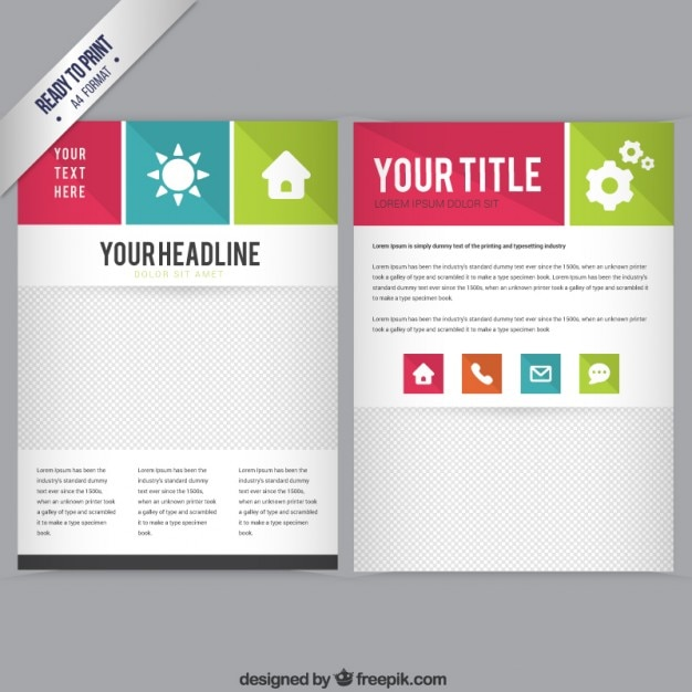 Booklet Templates | Booklet Template Vector Free Download