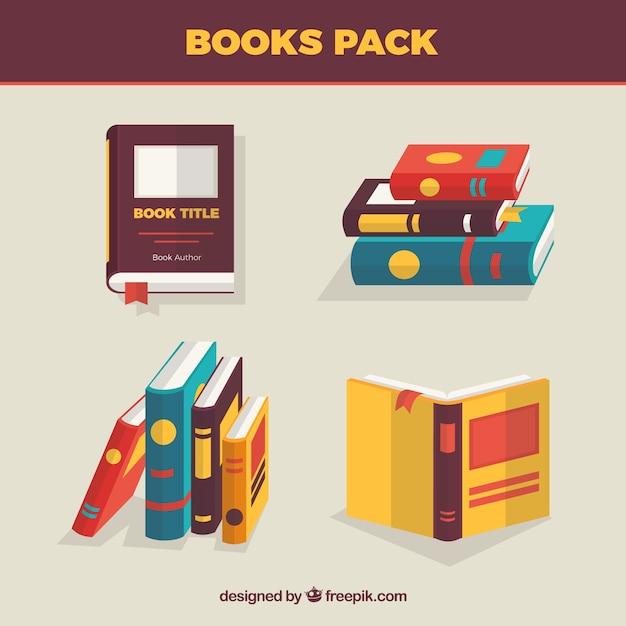 Books pack Premium Vector