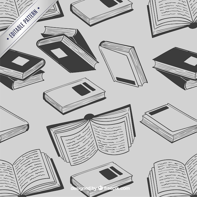 Books pattern Free Vector