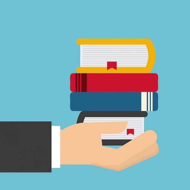 Books set Premium Vector