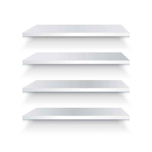 Bookshelf 3d set Free Vector