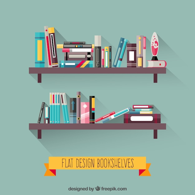 Bookshelf Vectors Photos And Psd Files Free Download