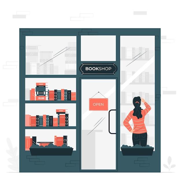 本屋の概念図 無料ベクター