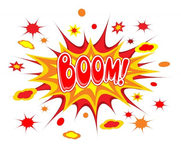 Boom comics icon Free Vector