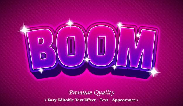 Boom  editable text style effect Premium Vector