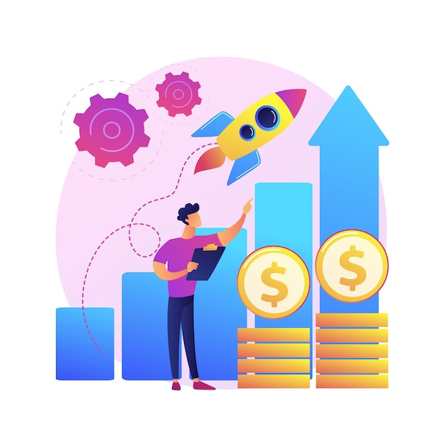 Boost sales abstract concept  illustration. promote product online, digital marketing strategy, sales plan, boost your business, increase sales, customer engagement . Free Vector