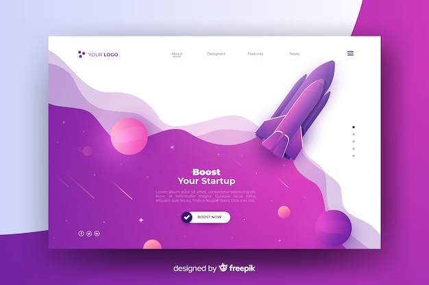 user experience design | landing page