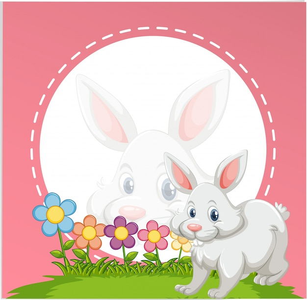 Border Template With Cute Bunny Vector Free Download