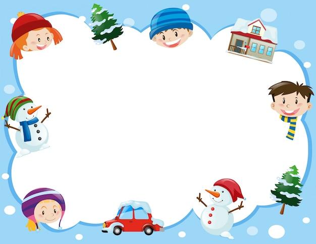 kids christmas border
