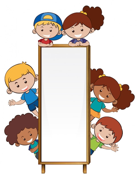 Border template with many children Free Vector
