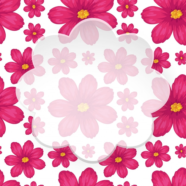 Border template with pink flowers vector premium download border template with pink flowers premium vector mightylinksfo
