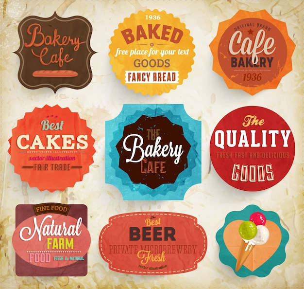 borders premium brown badges banner Premium Vector