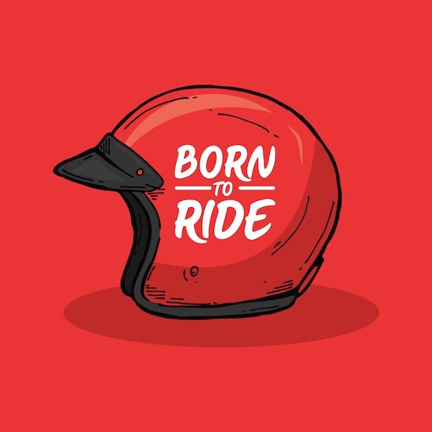 Born to ride Premium Vector