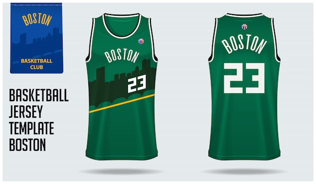 Boston basketball jersey Premium Vector