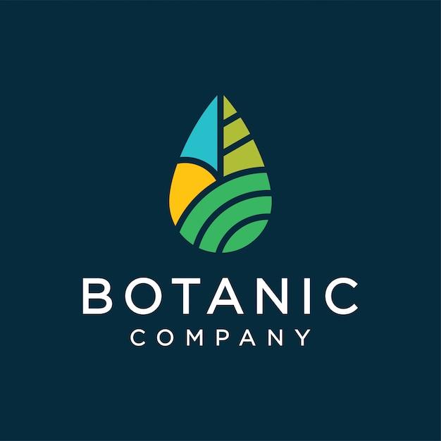 Botanic logo design concept Premium Vector