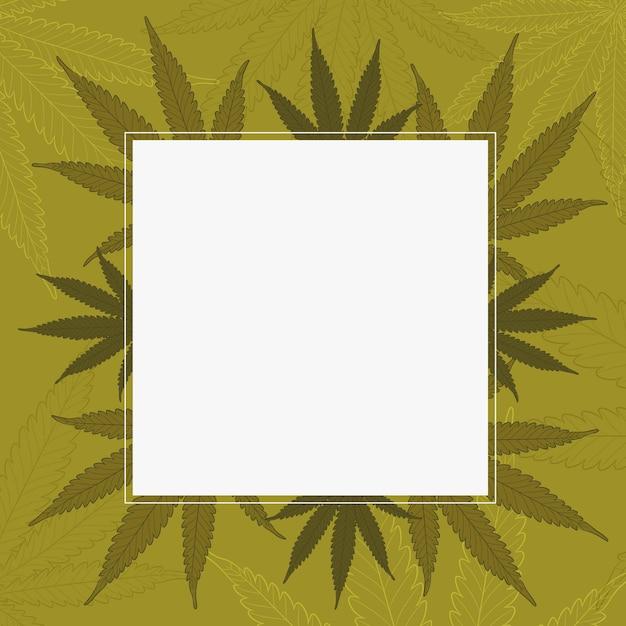 식물 대마초 잎 배경 무료 벡터