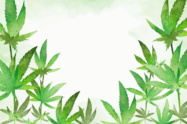 식물성 대마초 잎 무료 벡터