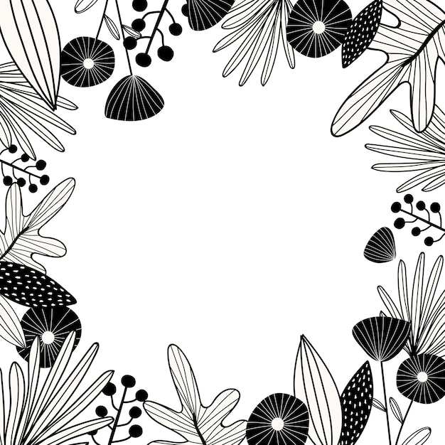 Botanical design space Free Vector