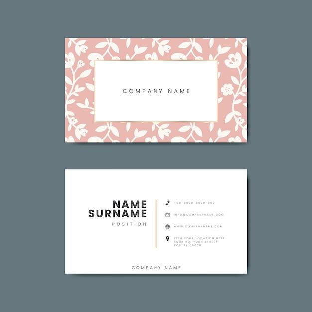Botanical floral business card illustration Free Vector