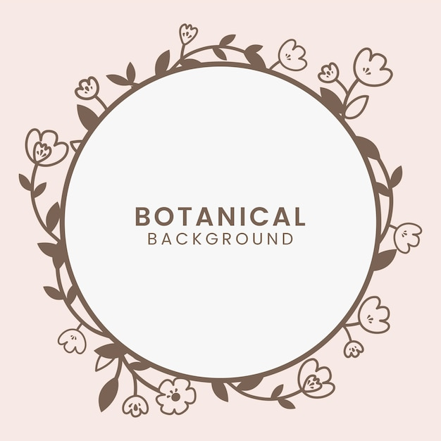 Botanical floral illustration Free Vector