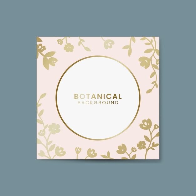 Botanical floral illustration Free Vector
