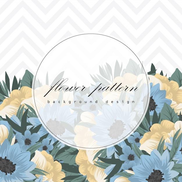 Дизайн шаблона поздравительной открытки ботанического приветствия Бесплатные векторы