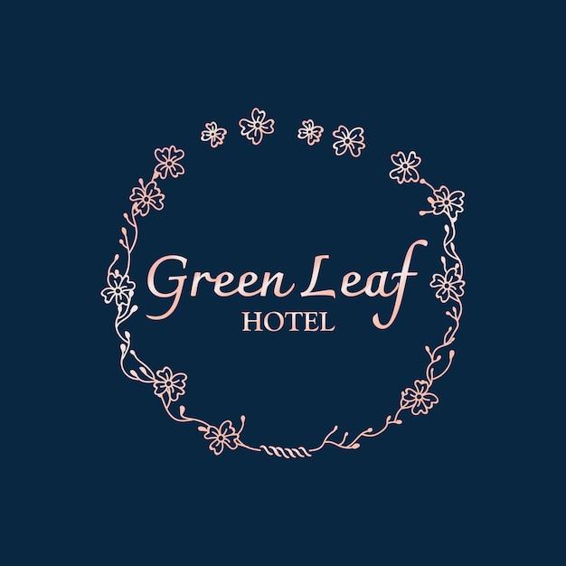 Botanical hotel logo Free Vector