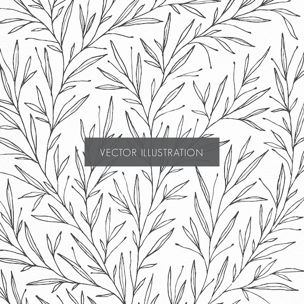 Botanical pattern illustration Free Vector