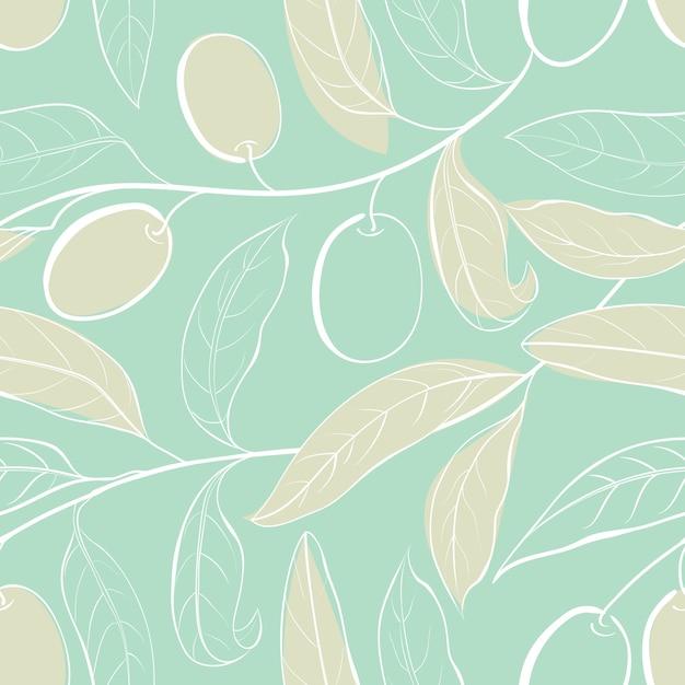 植物のシームレスパターン 無料ベクター