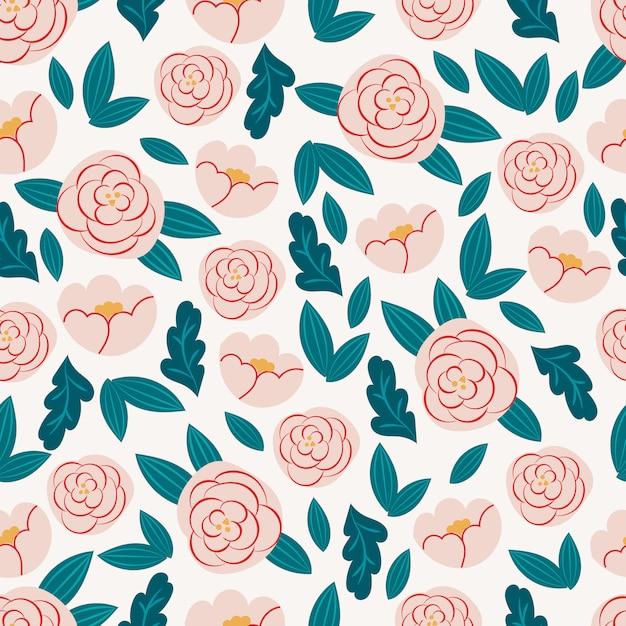 Botanical seamless pattern. Premium Vector
