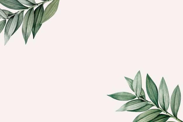 Botanical themed design space Free Vector