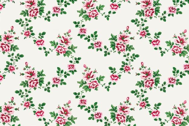 Ботанический винтажный стиль фона Бесплатные векторы