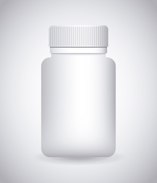 Bottle drugs Premium Vector