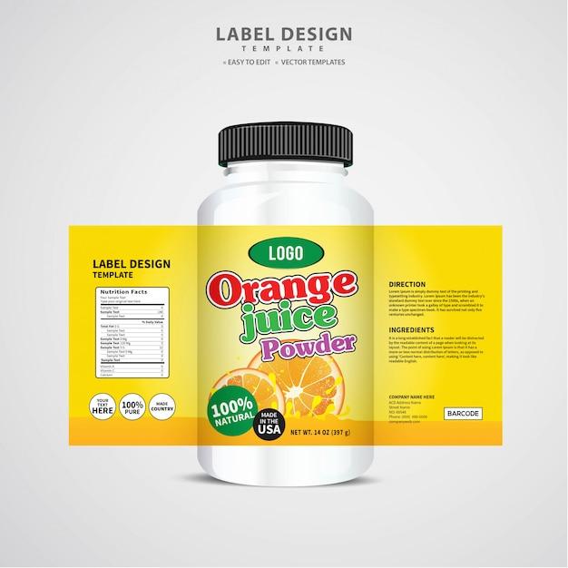 Bottle label, package template design, label design, mock up design label template Premium Vector