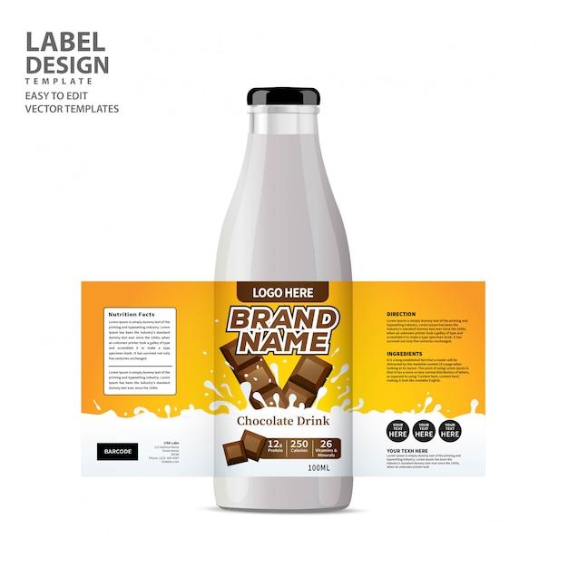 Bottle label Premium Vector