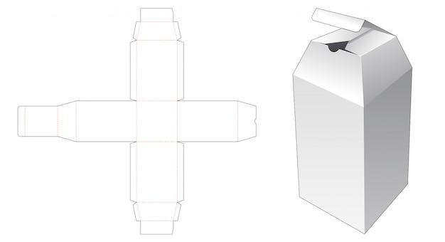 ボトル包装箱ダイカットテンプレート Premiumベクター