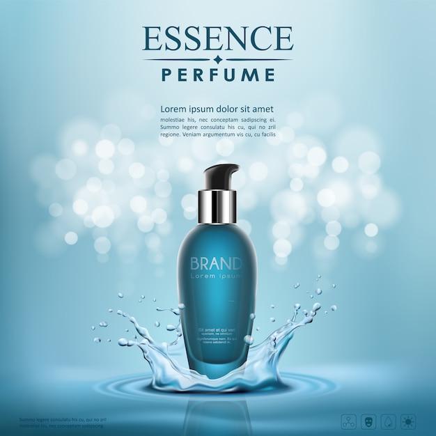 Bottle serum cosmetic Premium Vector
