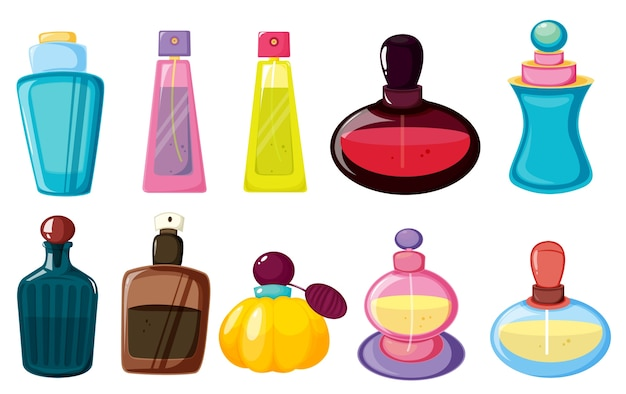 Bottles of perfume Free Vector