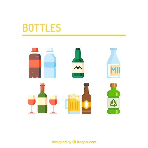 Bottles vector set Free Vector