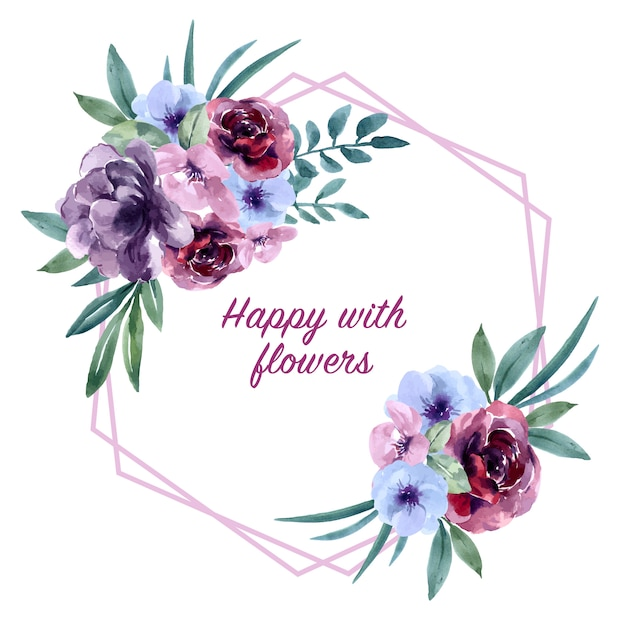 Bouquet card for special occasion , exotic watercolor Free Vector