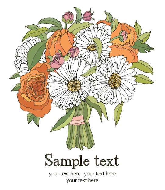 Букет цветов Бесплатные векторы