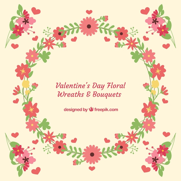 Bouquets and wreaths background for valentines\ day
